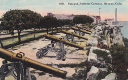CARTOLINA - POSTCARD - CUBA - PARAPET, FORTRES CABANAS HAVANA - Cuba