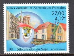 TAAF - 2000 - Délocalisation Du Siège Des TAAF De Paris à La Réunion ** - Terres Australes Et Antarctiques Françaises (TAAF)