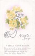 AP41 Greetings - Easter Joys - Cross, Primroses, Embossed - Easter