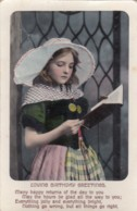 AP41 Greetings - Loving Birthday Greetings - Girl In Traditional Costume - Birthday