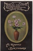 AP41 Greetings - A Happy Birthday - Vase With Flowers - Birthday