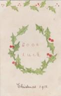 AP41 Greetings - Good Luck,  Hand-drawn Christmas Greeting - Christmas
