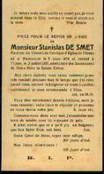 Souvenir Mortuaire DE SMET Stanislas (1876-1937) Né à PLANCENOIT Mort à THINES - Images Religieuses
