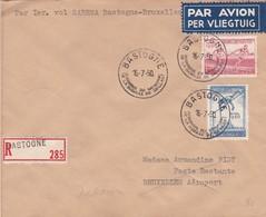 Lettre Vol Sabena Bastogne-Bruxelles Retour 1950 - Poste Aérienne