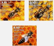Croatia 2019 Set 3 V MNH Carniolan Honey Bee Bees Abeille Abeilles - Honeybees