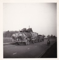 AR18 Photograph - Truck With 2 Trailers And Motorbike, April 1954 - Cars