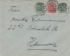 Allemagne Timbre Perforé Perfins Sur Lettre Cöln 1920 - Lettres & Documents