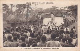 CARTOLINA - POSTCARD - BELGA KONGO'I SZALEZIMISSIO'K - LA KAFUBU - AZENTMISE èS PREDIKàCIO' - Congo Belga - Altri