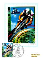 ITALIA - 2000 FIORENZUOLA D'ARDA (PC) Camp. Mond. Ciclismo Su Pista Juniores Ann. Fdc Su Cartolina PT - Ciclismo