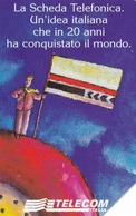 SCHEDA TELEFONICA  20° ANNIVERSARIO 1^ CARTA TELEFONICA  SCADENZA 31/12/1998 USATA - Italia