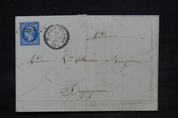 FRANCE - Lettre De St-André-lès-Alpes Pour Draguignan En 1860 , Affranchissement Napoléon , PC 2983 - L 25750 - Storia Postale