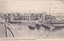 CARTOLINA - POSTCARD - SIERRA LEONE - DISCHARGING PRODUCE SAWPIT FREETOWN - Sierra Leone