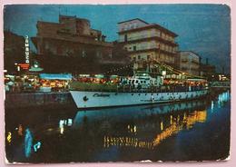 GABICCE - Notturno Sul Porto Canale - Nave Europa - Ristorante Cambusa  Vg - Italia