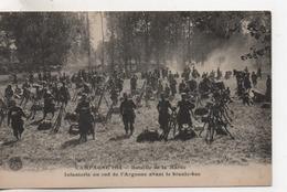 Cpa.Militaire.Bataille De La Marne.Infanterie Au Sud De L'Argonne Avant Le Branle-bas.animé Soldats - Guerre 1914-18