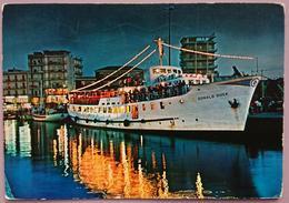 GABICCE MARE - Notturno Sul Porto Canale - Nave Donald Duck  Vg - Italia