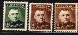 Slowakei / Slovakia, 1939, Mi 67 Y A; 58 Y A + Y C ** [240319XXIV] - Unused Stamps