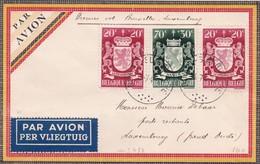 Lettre Par Avion Bruxelles  Luxembourg 1946 - Poste Aérienne