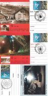 Romania 2002 Maximum Card (3 Pieces) Turda Salt Mine Anniversary, Philatelic Exhibition In Mine - 1948-.... Republiken