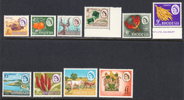 Rhodesia 1966-69 Litho Mardon Printing, Mint No Hinge/mounted, See Notes, Sc# ,SG 397-407 - Rhodésie (1964-1980)