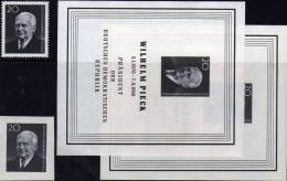 Präsident W.Pieck 1960 DDR 784A,B,Block 16+Bl.16 Abart ** 8€ Porträt Todestag Berlin Hb M/s Blocs Sheets Bf Germany - Varietà