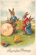 ¤¤    -  Carte Fantaisie   -  Joyeuses Pâques  -  Lapins , Poussins , Oeufs    -   ¤¤ - Pâques