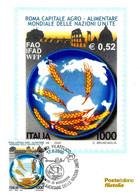 ITALIA - 2000 ROMA Capitale Agro-alimentare Delle Nazioni Unite Ann. Fdc Su Cartolina PT - Alimentazione