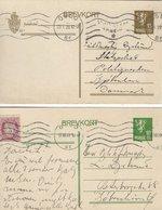 Norway - Brevkort.  2 Cards Sent To Denmark 1929. S-1916 - Entiers Postaux