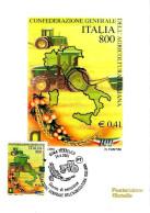 ITALIA - 2000 ROMA Confederazione Generale Agricoltura Italiana (spiga, Trattore)  Ann. Fdc Su Cartolina PT - Agricoltura