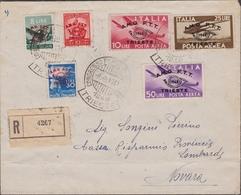 Trieste - 383 * Lettera Da Trieste Del 8.9.49 Per Novara Affrancata Con La Serie Convegno Filatelico N. 30/32+A17/A19. A - 7. Trieste