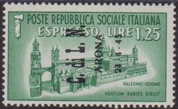 386 ** Arona 1945 – Soprastampato Espresso N. 16. Cert. Biondi. Cat. € 750,00 - Emissioni Locali/autonome