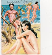 CPSM Pin-up Sexy Naturisme Naturiste Baigneuses Nude Nu Illustrateur L. CARRIERE N° 50352 (2 Scans) - Carrière, Louis
