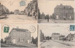 4 CPA:VASSY (14) PLACE DU MARCHÉ,MAIRIE ET LA PLACE,ETC.. - France