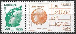 France 2012 Timbres Neufs N°4593a Et 4687 Issus Du Bloc à La Faciale - Francia