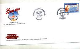 Lettre Cachet Marseille Rassemblement Français D'algerie - Marcophilie (Lettres)