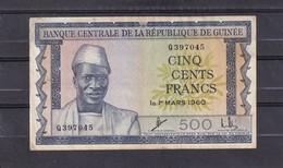 Guinea 500 Fr 1960 VF - Guinee