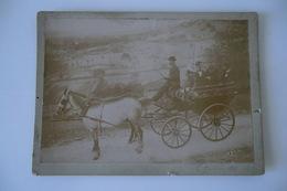 ANCIENNE PHOTO 18 X 13cm. CANTAL 7 Octobre 1898. Attelage, Calèche, Chevaux. à Situer. TBE. - Photos