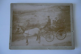 ANCIENNE PHOTO 18 X 13cm. CANTAL 7 Octobre 1898. Attelage, Calèche, Chevaux. à Situer. TBE. - Anciennes (Av. 1900)