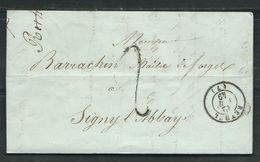 FRANCE 1851 Marque Postale Taxée De Rethel - 1849-1876: Période Classique