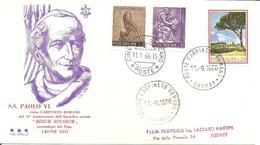 ITALIA-VATICANO - 1966 2 Annulli Vaticano E Carpineto Romano Visita Papa PAOLO VI Su Busta Speciale Tre Stelle - 2589 - Papi