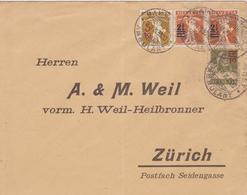 BRIEF   A. & M. WEIL, ZURICH  ~  YEAR 1921 - Schweiz