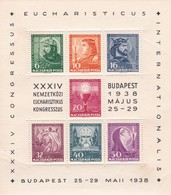 Bloc EUCHARISTICUS Budapest 25/29 /5 1938 - Blocs-feuillets