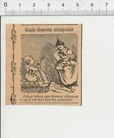 Humour De 1908 Ancien Biberon De Lait Pasteurisé Nourrice Nounou Et Bébé 51D18 - Vieux Papiers