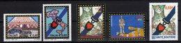 2004 Emissione Congiunta Joint Issue Italia Francia ONU Genéve Sicurezza Stradale 5 Stamps MNH - Emissioni Congiunte