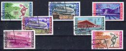 25.11.1964; Olympische Sommespiele Tokyo, Mi-Nr. 19A - 25A, Gest. Los 95019 - Umm Al-Qaiwain