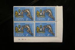 Jamaica 200 Central American & Caribbean Games Arms Runner Corner Block 4 MNH 1963 A04s - Jamaique (1962-...)