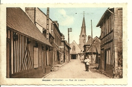 14 MOYAUX   Rue De Lisieux   Edit R Caron - Autres Communes