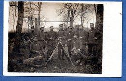Carte Photo  - Groupe De Soldats Allemands  -  3/4/1918 - Guerre 1914-18
