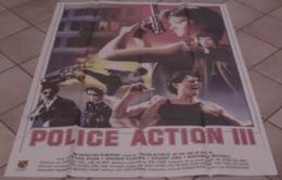 AFFICHE CINEMA ORIGINALE FILM POLICE ACTION 3 Cinthia KHAN Hiroshi FUJIOKA KARATE Arts Martiaux TBE 1988 - Affiches & Posters