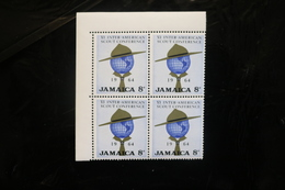 Jamaica 233 Scout Conference Hat Globe Scarf Block 4 MNH 1964 A04s - Jamaica (1962-...)