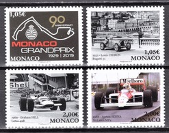 MONACO 2019 - SERIE 4 TP / 90 ANS DU GRAND PRIX DE MONACO - NEUFS ** - Monaco